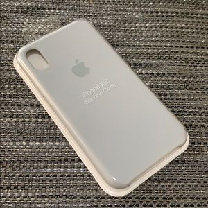 NEW Original Silicone Case for iPhone XR Blue Grey